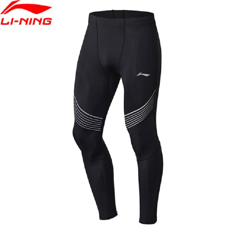 Li-Ning 2018 Men PRO-Jogger Professional Tights Quick Dry Breathable Tight Fit Li Ning Comfortable Sports Pants AULN029 drawstring spliced camo jogger pants