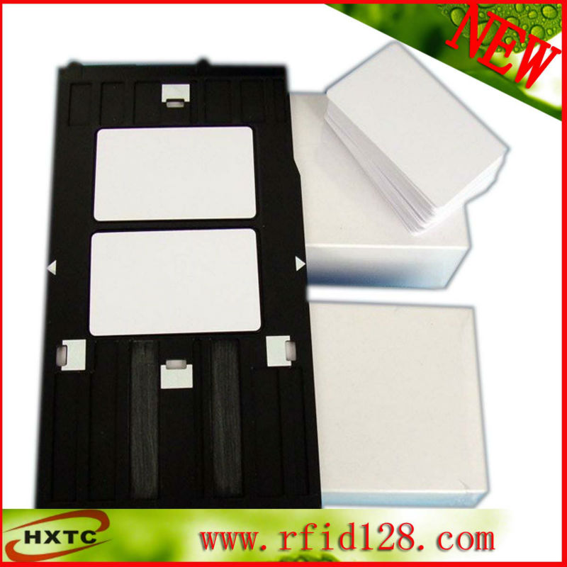 Free Shipping 100PCS/Lot Printable 125KHZ RFID Smart PVC Blank Card With TK4100/EM4100 Chip For E pson/Canon Inkjet Printer 20pcs lot contact sle4428 chip gold card with magnetic stripe pvc blank smart card purchase card 1k memory free shipping