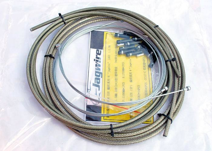 JAGWIRE BRAIDED HOUSING HOSE CABLE COMPLETE KIT SILVER COLOR BRAKE SHIFTER