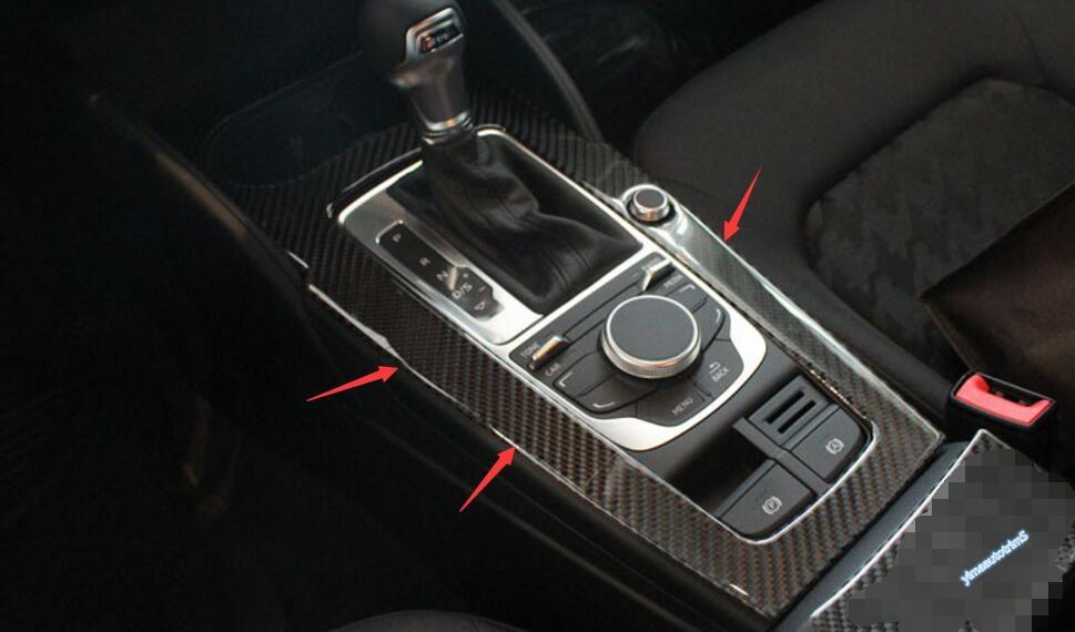 Көміртекті талшық! Audi A3 үшін 1 PCS 2014-2017 - Автокөліктің ішкі керек-жарақтары - фото 3
