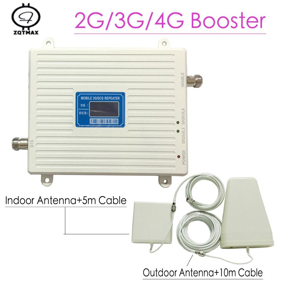 2G 3G 4G 1800/2100 MHz répéteur double bande amplificateur de Signal Mobile téléphone portable UMTS Kit de Booster de téléphone portable amplificateur de signal mobile