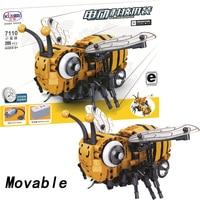 Movable legoingly Bee Technic Animal With Motor Battery Box 285pcs Building Blocks Bricks Enlighten DIY Toys for Children Gift
