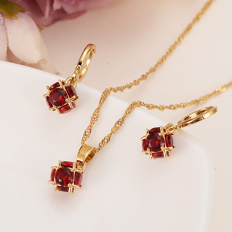 Gold rainstone ball Wedding Jewelry Sets Cubic Zirconia Elegant Engagement Earring for Women girlscharms partygift Accessories