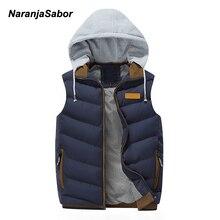 NaranjaSabor 2019 для мужчин's толстовки толстый жилет пуховое пальто мужчин повседневное зимняя куртка мужской тонкий пиджаки