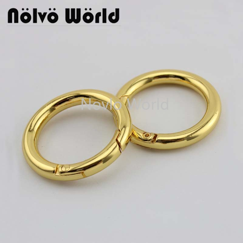 Wholesale 500pcs,4 Colors Accept Mix Color, Inner Width 25 Mm 1 Inch, Metal O Ring Handbag Spring Gate Ring Diy Accessories