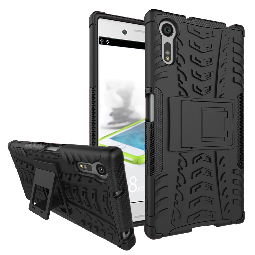For Sony Xperia XZ Case Heavy Duty Armor Shockproof Hybrid Hard Rugged Rubber Phone Cove ...
