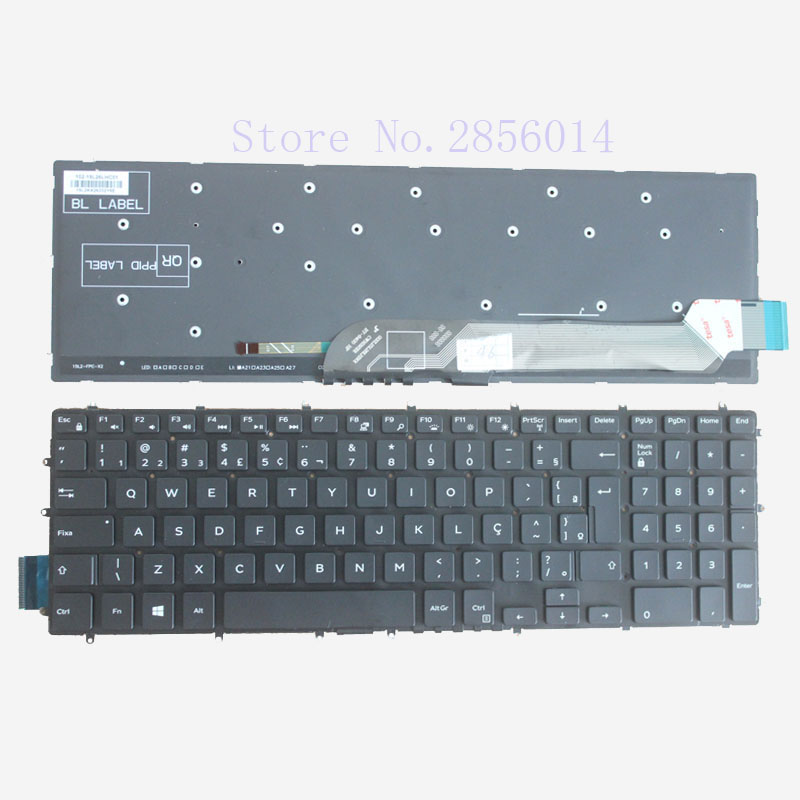 New Brazil keyboard for Dell Inspiron 15 7000 7566 15 7566 7566 1845 BR black laptop