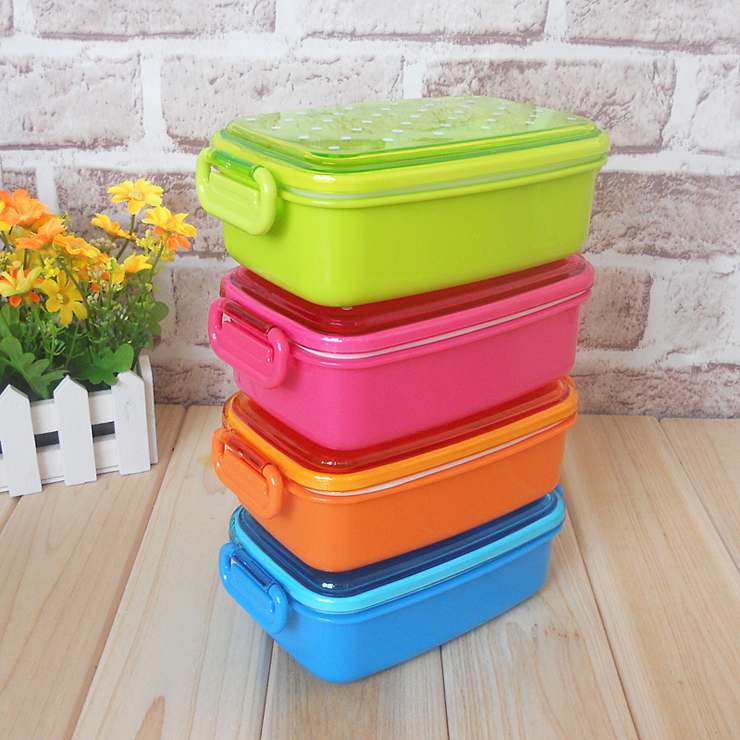 4 colors polka dot small japanese food storage box for kids sushi food container bento lunch box. Black Bedroom Furniture Sets. Home Design Ideas