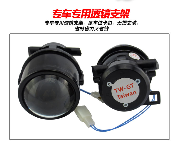 GZTOPHID Car bifocal fog lens, Front bumper lights bi-xenon lens assembly for SU BARU FORESTER 2006-2012 Taiwan product car bifocal fog lens front bumper lights bi xenon lens assembly for luxgen u6 14 taiwan product high quality