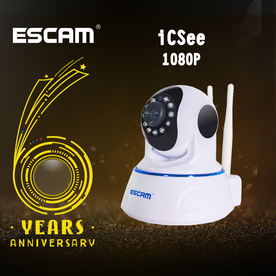 Escam QF003 Mini Home IP Camera 1080P 2MP Dual Antenna Pan/Tilt ONVIF WiFi Indoor IR Surveillance Cameras комплект боди 5 шт детский luvable friends 30780 f розовый р 55 61
