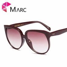 MARC Fashion Cat eye sunglasses trend Gradient Transparent Plastic Leopard Sol de gafas Oversize UV400
