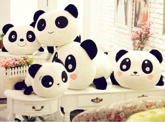 70cm Panda Plush Toys 6 styles Cute Soft Dolls Pillow Birthday/Christmas Gifts for kids lovely giant panda about 70cm plush toy t shirt dress panda doll soft throw pillow christmas birthday gift x023