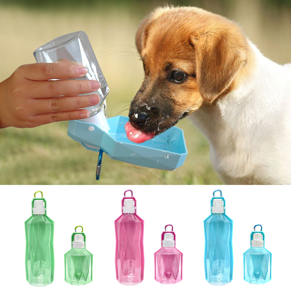 Portable Pet Dog Cat Travel Drinking Water Bowl Bottle: Portable Dog Water Bottle Cat Puppy Drinking Bottle Pet