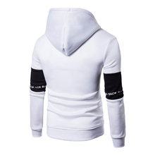 Casual Hoodies Men Fashion New Patchwork Hooded Sweatshirt Coat Mens Moletom Masculino Fashion Hoodies Slim Sportswear Tracksuit
