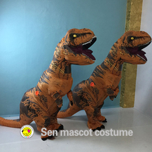 New product!The tyrannosaurus rex dinosaur knight inflatable performance apparel clothing adult size
