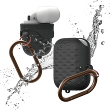Grid Grain Silicone Waterproof Earphone Case For Airpods Metal Finger Ring Protective Headphone 2 Bag