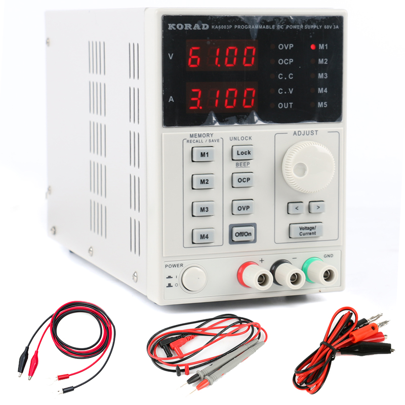 KA6003P Precision Digital Programmable DC Power Supply 60V 3A Adjustable RS232 USB interface Lab Grade Phone Repair Kit programmable usb emulator rs232 interface 15keys numeric keyboard password pin pad yd531 with lcd support epos system