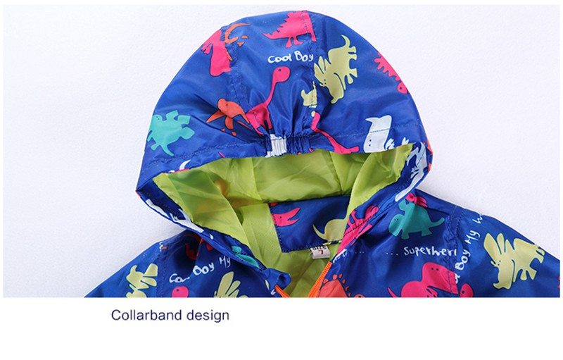 80-120cm Cute Dinosaur Acitve Children Boy Jackets Spring Clothes For Kids Girls Trench Coats Windproof Camouflage Outerwear (8)