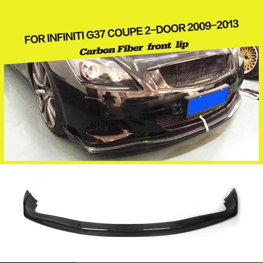 Carbon Fiber Rear Trunk Boot Spoiler Lip Fit for Infiniti G37 2-Door 2009-2013