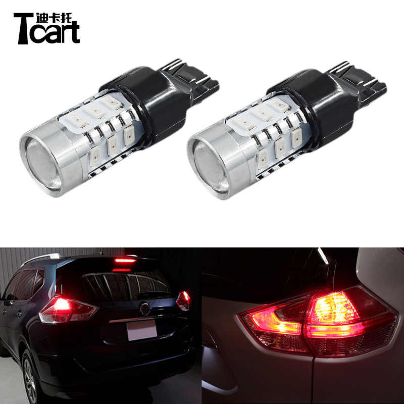Tcart for Nissan X-trail T32 2014 2015 2016 2017 2018 Led Auto Brake Light  Lamp Wholesales red color Brake Stop Lights