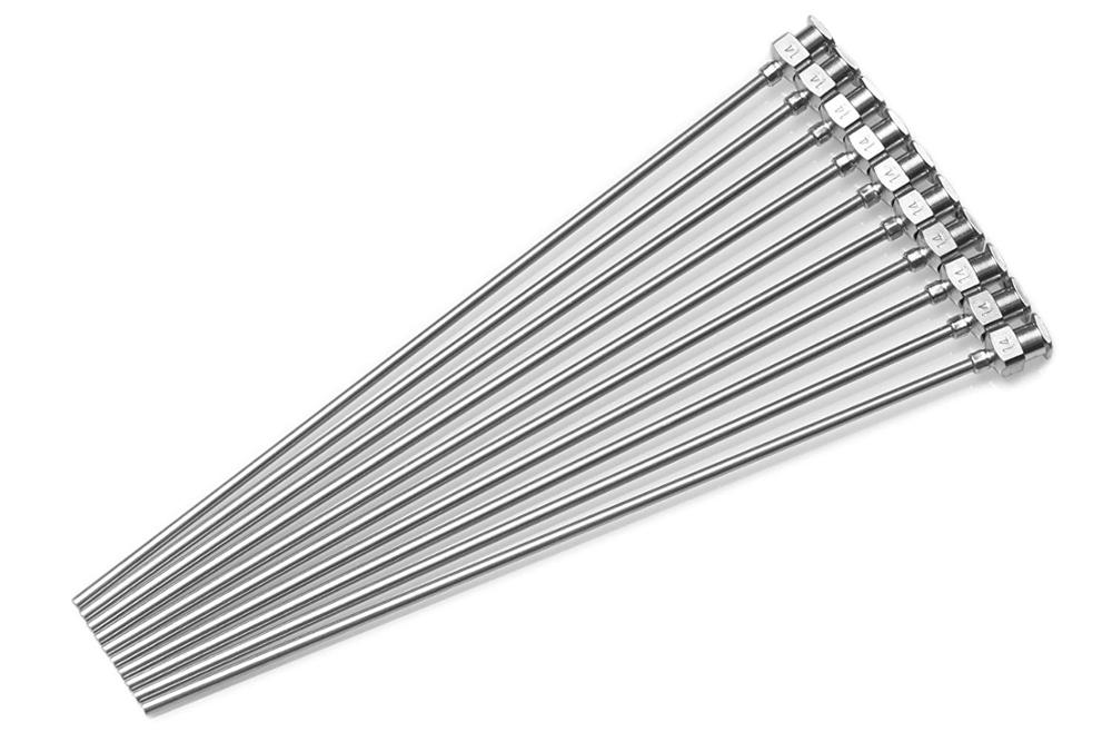1Pc - 100mm Or 150mm,200mm Cannula Length Dispensing Needle  (8G,10G,12G,14G...27G Optional)- Blunt Tip, All Metal