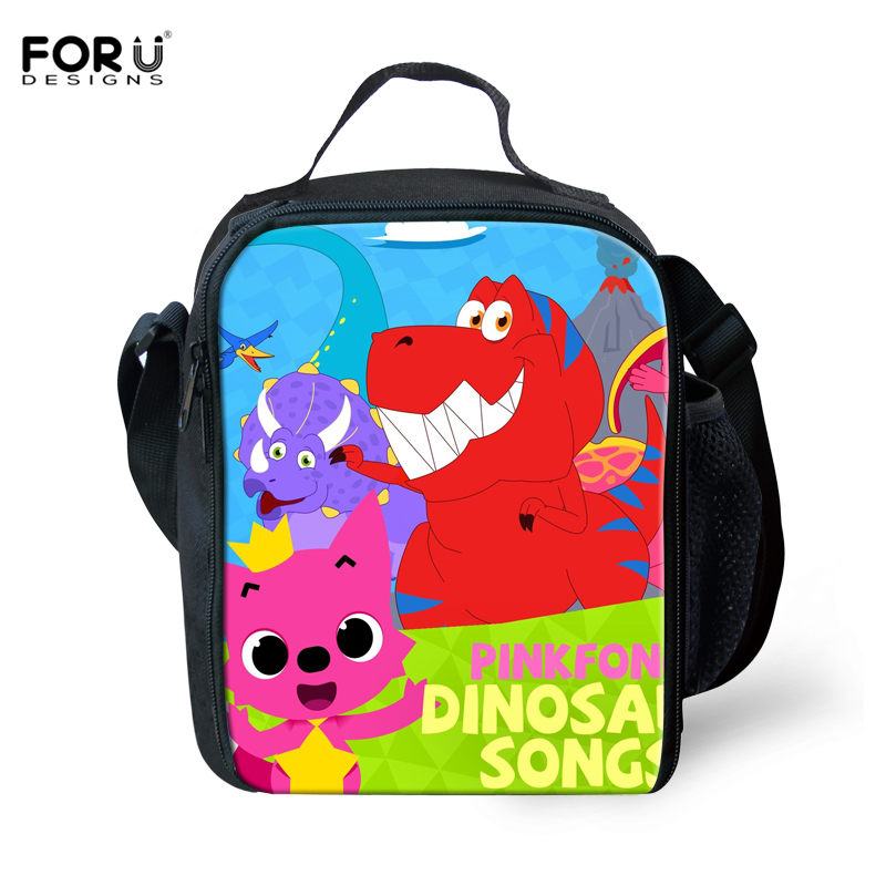 FORUDESIGNS Cartoon 3D PinkFong Lunch Bags For Kids Girl Portable Insulated Lunch Box Bag Thermal Food Picnic Bags Dropshipping