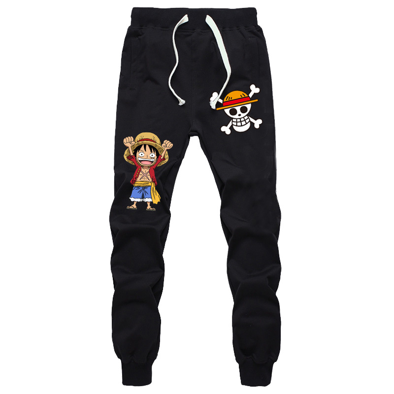 Japanese anime ONE PIECE casual pants 2016 New Men's casual comfortable straight Pants 111001