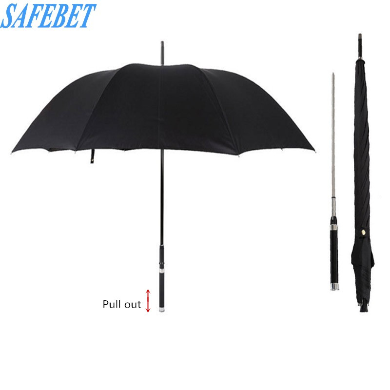 SAFEBET Brand Fashion Long Handle Man Automatic Umbrella Warrior Sword Style Good Quality Parasol Creative Business