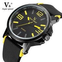V6มาถึงยี่ห้อผู้ชายผู้หญิงนาฬิกาแฟชั่นนาฬิกาrelógio masculinoทหารที่มีคุณภาพสูงควอตซ์นาฬิกาข้อมือ...
