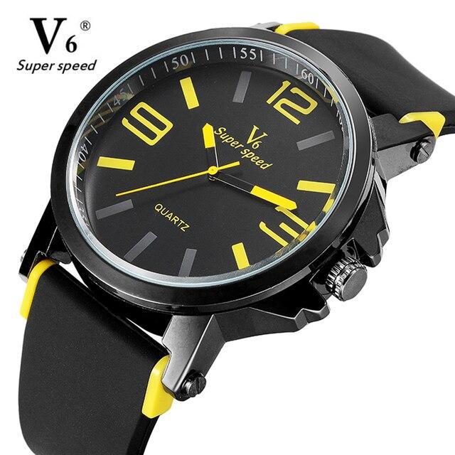 V6 прибытие марка женщины мужчины смотреть мода часы relogio masculino военная высокое качество кварцевые наручные часы часы мужчины спортивные
