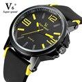 V6 marca chegada dos homens Das Mulheres assistir moda relógios relogio masculino militar de pulso de quartzo de alta qualidade relógios do relógio de esportes masculino