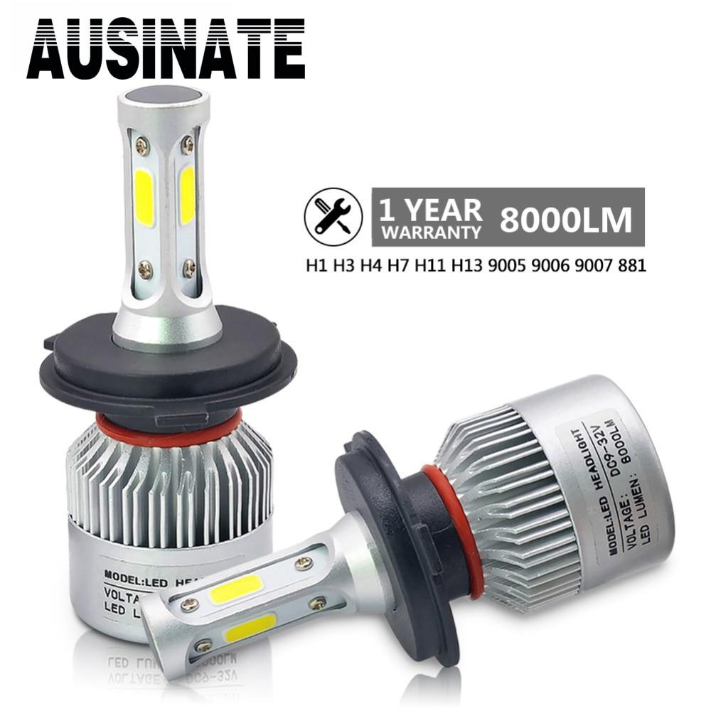 H3 LED H1 H7 H4 H11 Car Headlight Bulbs S2 Canbus HB4 H8 HB3 9005 H27 H9 9006 HB5 Led fog light 72W 8000LM 6500k Car Light bulb