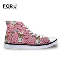 FORUDESIGNS Boots Children S Sneakers Running Shoes 3D Cute Cartoon Nurse Printed Kids Football Shoes Boys