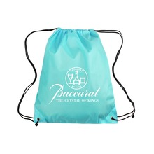 Custom Cheap Polyester String Shopping Bag Wholesale Drawstring Backpack Promotional Drawstring shopping Bag
