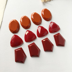5pcs Irregular Vintage Resin Earring Charms Ring Patch Findings Diy Triangle Oval Brooch Necklace Bead Pendant Jewelry Make F66