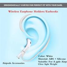 1 Par De Earhooks Para Airpods Acessórios Titulares De Fone De Ouvido Sem Fio para Airpods Tira Uma para a Esquerda e Um para a Direita e branco