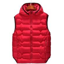 B plus size 6xl 8XL 7XL Mens Parka vwaistcoat vest winter fashion hooded casual warm mens Sleeveless jackets coats