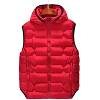 B plus size 6xl 8XL 7XL Men's Parka vwaistcoat vest winter Men's fashion hooded vest casual warm men's Sleeveless jackets coats