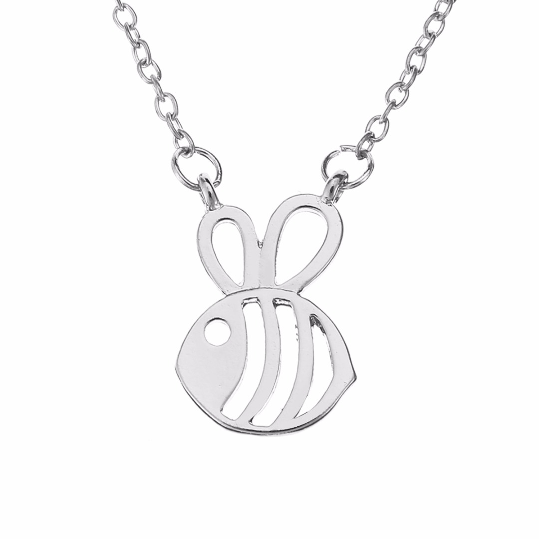 Fashion honey bee pendant necklace shellhard cute insect honeycomb fashion honey bee pendant necklace shellhard cute insect honeycomb bumble bee chain necklace for women jewelry aloadofball Gallery