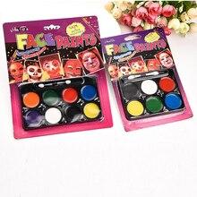 6/8 цветов, карандаши для рисования лица, комбинированная структура, карандаш для рисования лица, Рождественская краска для тела, ручка для макияжа, детский макияж для вечеринки