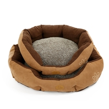 Dog Bed Pet Cushion Mat Portable Pet Bed Soft Round Detachable Wearproof Easy Washing Cleaning Soft PP Cotton