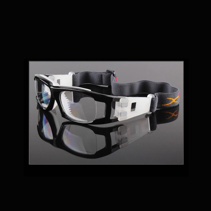 Hombres Baloncesto Fútbol protección ocular Gafas graduadas Gafas Miopía Marco Fútbol Tenis Gafas PC lentes 033