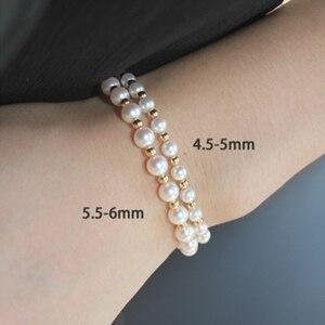 Image 3 - Sinya Reine echte 18K gold perlen und Natürliche perlen stränge Fußkettchen armbänder halsband halskette länge 16cm 45cm optional Heißer verkauf