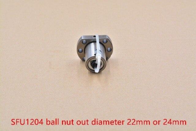 OD 22mm or 24mm RM1204 SFU1204 ballscrew nut 12mm ball screw single nut for 1204 nut housing bracket CNC DIY 1pcs