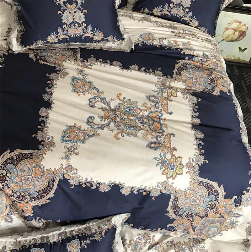 Изысканный Bohemia Style 100 s хлопок сатин 3D цифровой печати Постельное белье пододеяльник постельное белье лист наволочки 4 шт.