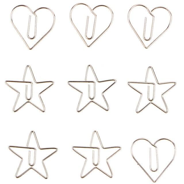 Купить 10pcs/pack metal animal shape paper clip hollow out memo bookmarks картинки