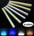 2X12 V Super Branco Brilhante 6 W COB LED DRL LEVOU luz Luzes Diurnas lâmpada de Alumínio Painel Bar Chip frete grátis