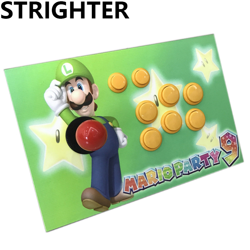 цена на Super Mario arcade joystick present gift controller computer game Arcade Sticks usb connector street fighters Consoles