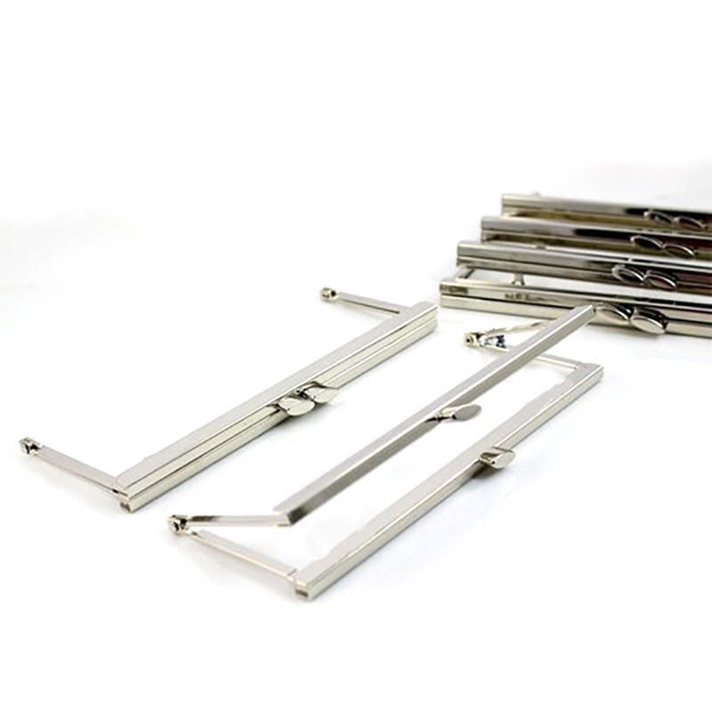 8  x 3  Silver Clutch Purse Frame Without Loops