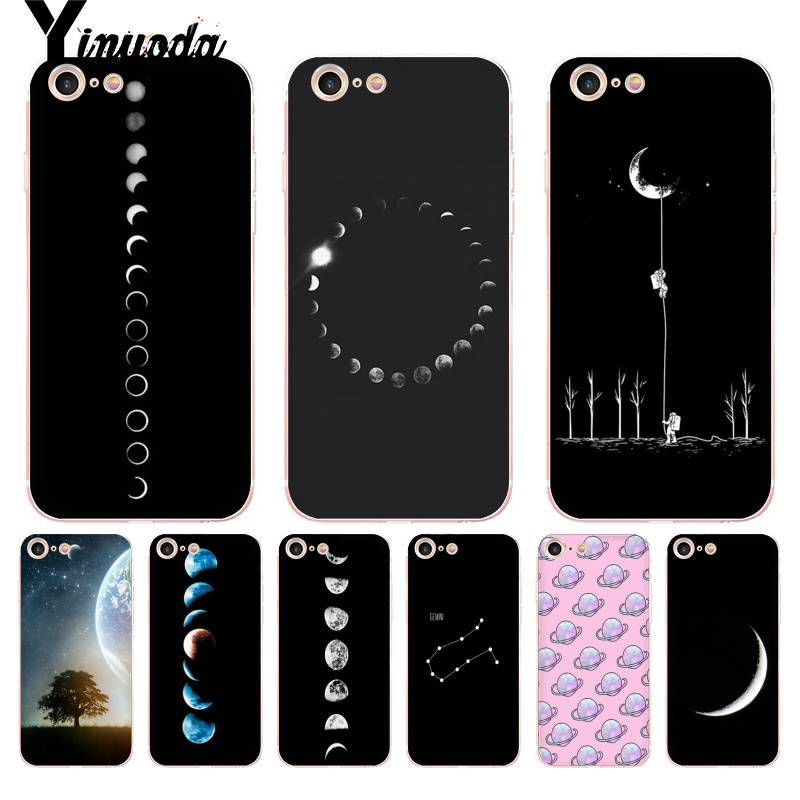 Half-wrapped Case Yinuoda For Iphone 7 6 X Case Space Eclipse Of The Moon Transparent Phone Cover Case For Iphone 8 7 6 6s Plus X 5 5s Se Xs Xr